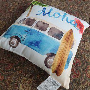 """New, Darling, Aloha Summer Pillow 18""""x18""""."""